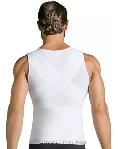 cinta modeladora masculina slim compressão diminuir barriga