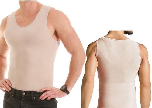 cinta modeladora postural masculina compressão bodyshaper