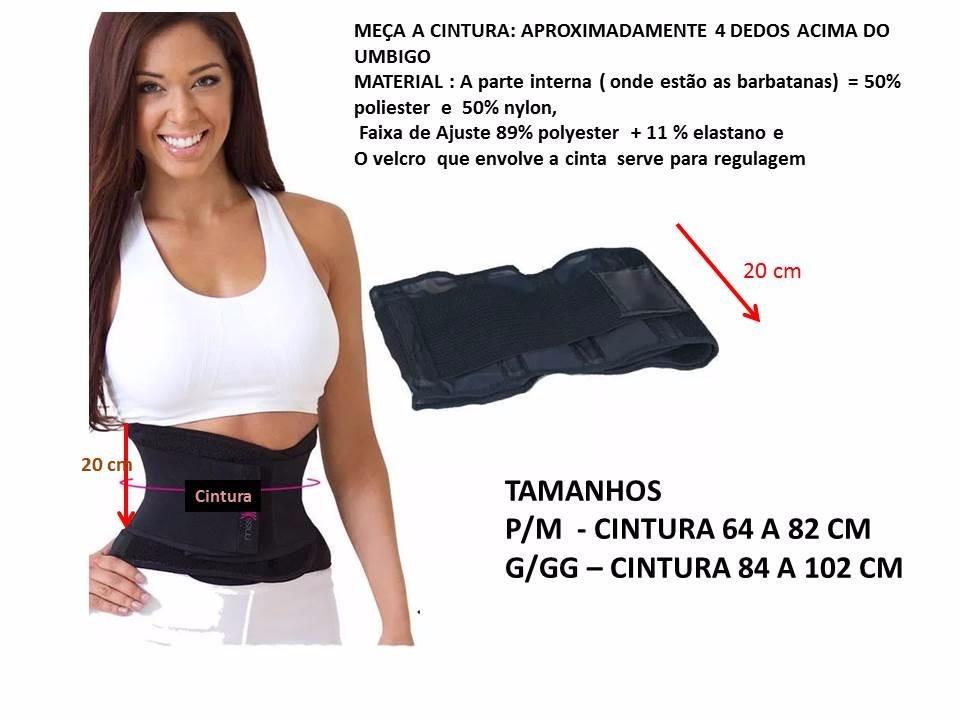 d3c12c289 Cinta Modeladora Redutora Miss Belt Tamanhos P