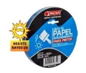 cinta papel enmascarar azul obra pintor 18mm x50m tacsa