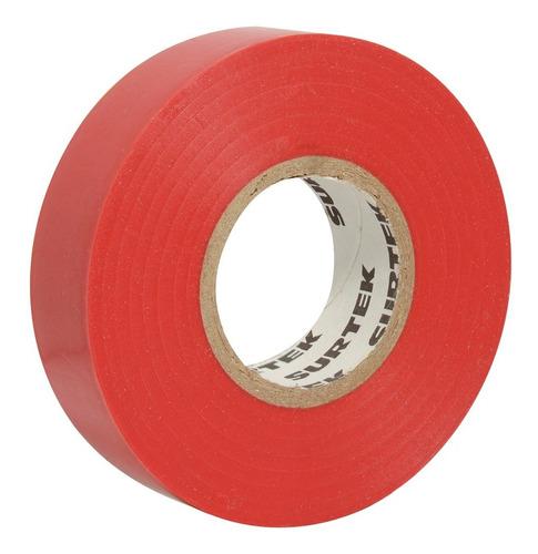 cinta para aislar roja 9 m 138009 surtek