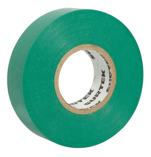 cinta para aislar verde 9m 138005 surtek