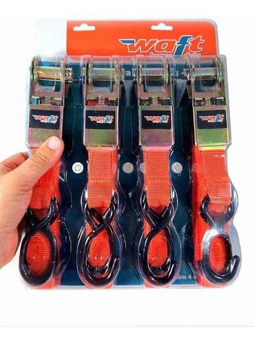 cinta para carga com catraca 1 x4,5m 1  4 peças - waft