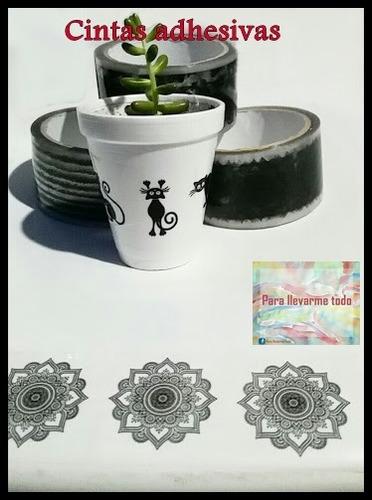 cinta para decorar frascos, cuadros, macetas pack x 3