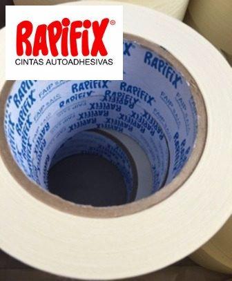 cinta para enmascarar rapifix 48mm x 50m caja 18 rollos.