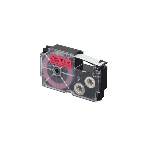 cinta para rotulador casio xr-12fpk 12mmx5.5m negro/rosa f