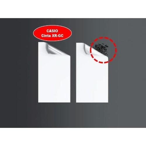 cinta para rotulador casio xr-12gcsr 12mmx8m negro/plateado
