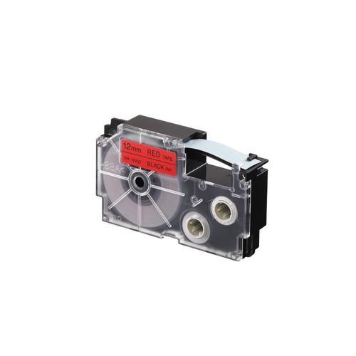 cinta para rotulador casio xr-12rd1 12mmx8m negro/rojo