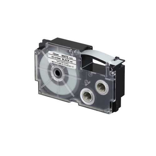 cinta para rotulador casio xr-12trwe 12mmx5.5m negro/blanca