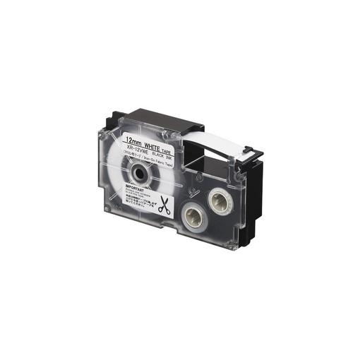 cinta para rotulador casio xr-12vwe 12mmx3.5m negro/blanco