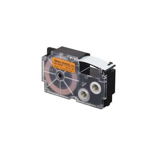 cinta para rotulador casio xr-18foe 18mmx5.5m negro/naranjaf