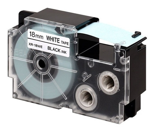 cinta para rotulador casio xr-18we1 18mmx8m negro/blanco