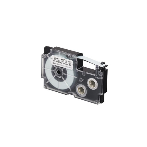 cinta para rotulador casio xr-9hmwe 9mmx5.5 negro/blancoflex