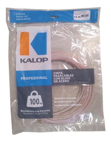 cinta pasacable alma de acero 15m kalop