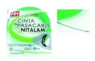 cinta pasacable nylon,alta resistencia ,verde,10mt grilo