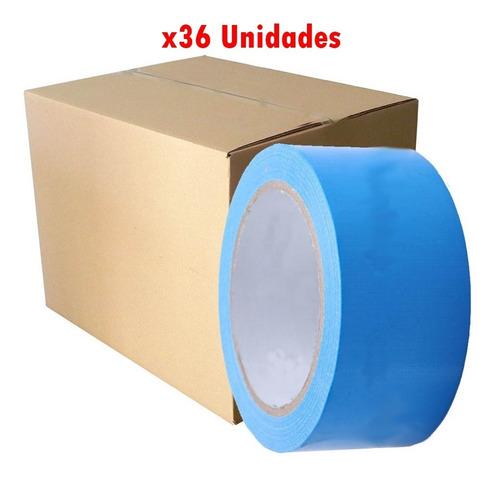 cinta pato color azul 48 mm x 10yds caja 36 unidades g p