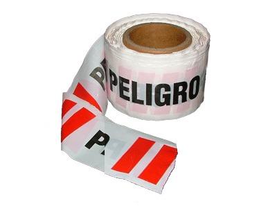cinta peligro 200 mts x 8 cms sin autoadhesivo