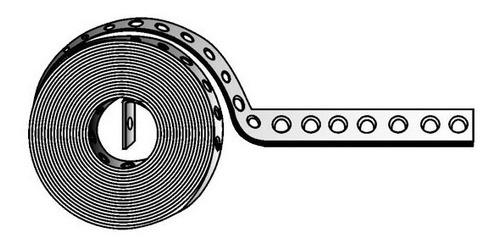 cinta perforada acero pregalvanizado tornillos 3/16 y 1/4