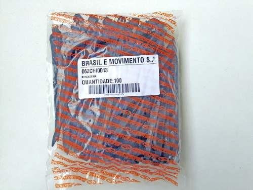 cinta plastica 100 x 15cm0,7mm 100pcs lingua de sogra preta