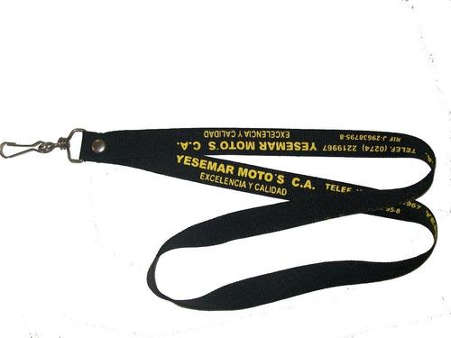 cinta porta carnet sin estampado, estampada y sublimada