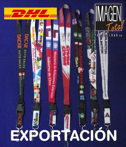 cinta porta carnet sublimada personalizada oferta 13.175/u