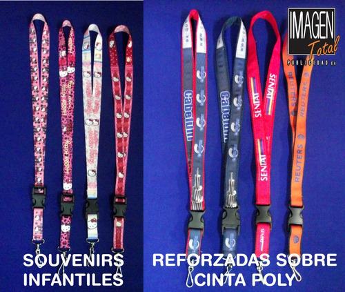 cinta portacarnet sublimadas personalizadas a full color