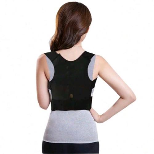 cinta postural corretor de postura magnética preta tam p m g