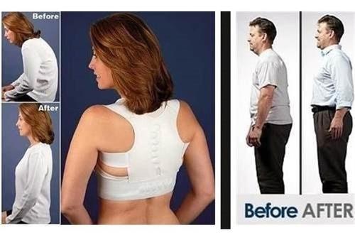 cinta postural corretor de postura magnético colete correti