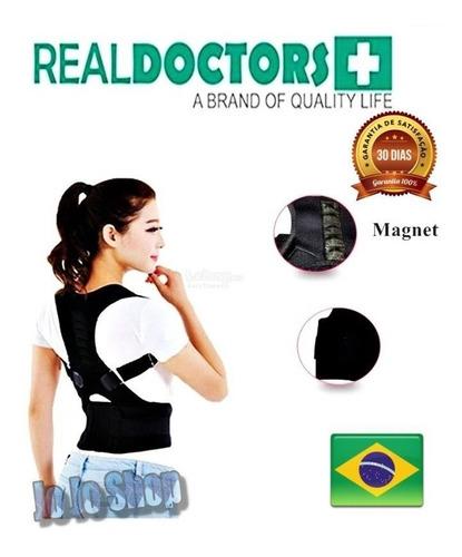 cinta postural corretor de postura magnético colete corretiv