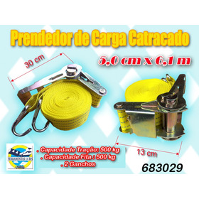 Cinta Prendedor Carga Catraca 500 Kg-6,1 M X 5 Cm 1ºqualid.
