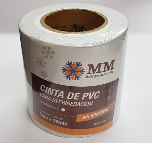 cinta pvc sin adhesivo cañearías aire acondicionado blanca