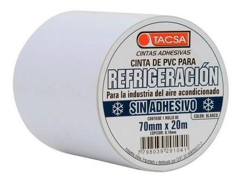 cinta pvc tacsa refrigeracion sin adhesivo blanco 70mm x 20m
