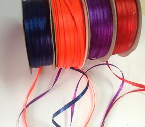 Rosa doble cinta de raso 5m rollos de 3mm a 36mm de ancho
