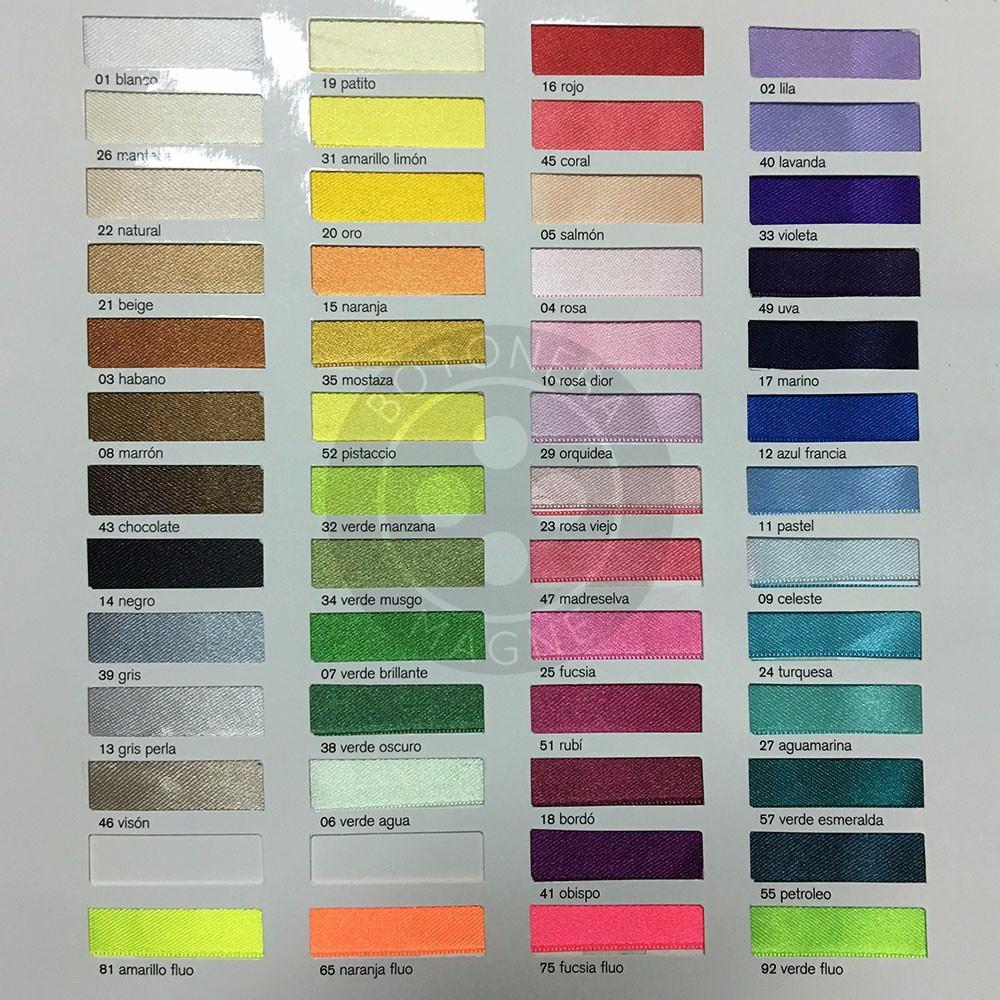 Cinta Raso #5 X 10m, Variedad En Colores - $ 82,77 en Mercado Libre