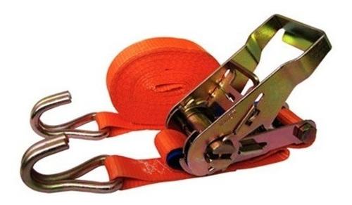 cinta ratchet correa de amarre para cargas 1  x 5m