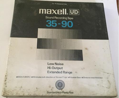 cinta reel maxell 35-90 recording tape nuevas