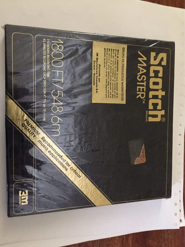 cinta reel scotch master 7r-1800 ft recording tape nueva