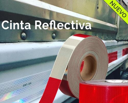 cinta reflectiva 50 metros seguridad vial camiones autos