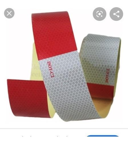 cinta reflectiva bicolor (rojo y blanco) adhesiva dot-c2