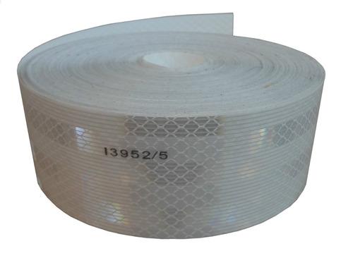 cinta reflectiva blanca seguridad vehicular por metro 3m