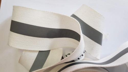 cinta reflectiva combinada 3.8cm sello iram palopoli blanco