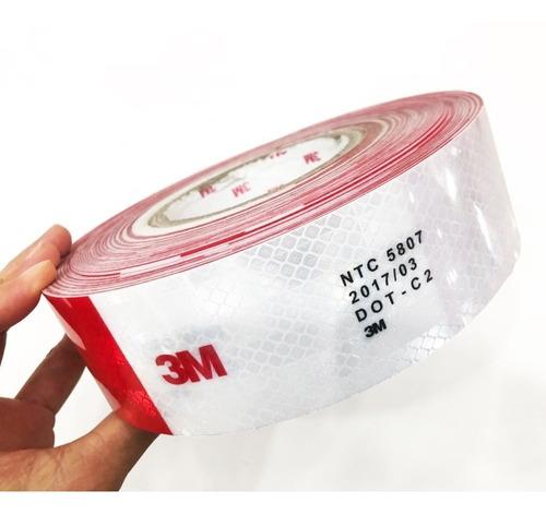 cinta reflectiva norma 5807 dotc2 rollo 45.7 metros 3m