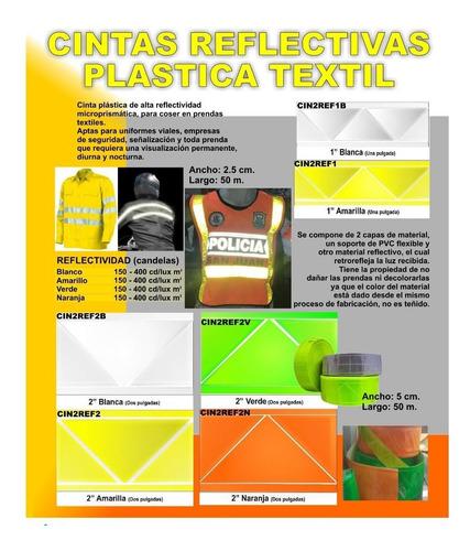cinta reflectiva plastica microprimatica ancho2.5cm palopoli