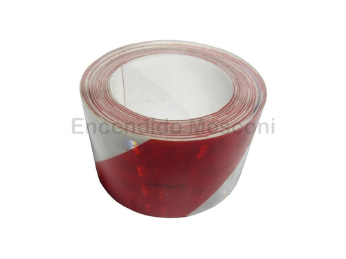 cinta reflectiva roja blanca cebrada adhesiva homologada