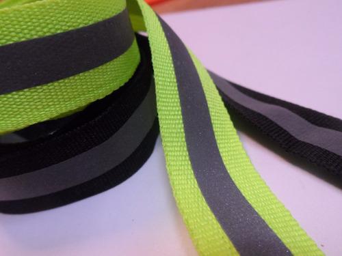 cinta reflectiva tela 20mm o 2 cms rollos 50 mts