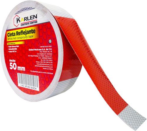 cinta reflejante blanco rojo 50mm x 45.7m envio gratis nuevo