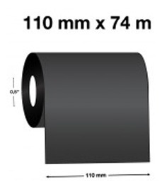 cinta ribbon cera 110mm x 74m (p/papel)
