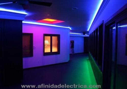 cinta rollo tira luces led 5mt multicolor + control rgb
