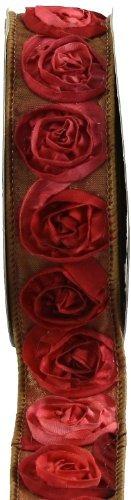 cinta rosa keltoy dimensional 15 pulgadas por rosetas roj