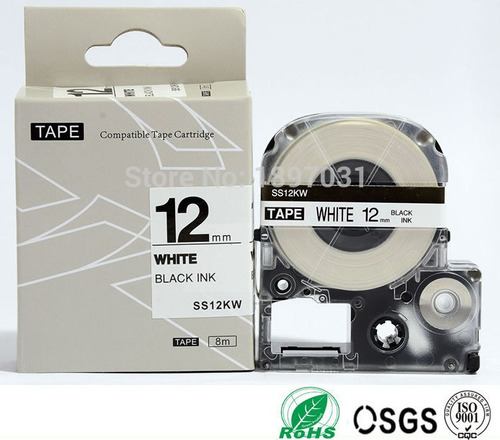 cinta rotulador epson lw300-400 compatibles lc-4wbn ss12kw